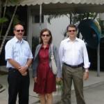: Da esquerda para direita: o proprietário do empreendimento, Francisco Carvalho; a gerente de Suporte a Negócios da Agência Maceió - Centro do BNB, Flávia Spíndola, e o gerente geral da Agência Maceió - Centro, Enildo Lemos.