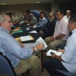 Presidente do Corecon/AL, Marcos Calheiros, e os economistas alagoanos falam sobre projeto de desenvolvimento do Estado para o deputado Inácio Loiola