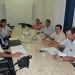 Representantes do Estado e da Agência Espanhola reunidos na Seagri
