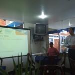 Assessor do Fecomércio, Diego Gaia, fala das novidades da Fecom durante café da manhã para a imprensa