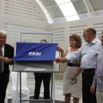 Presidente José Carlos Lyra, vice-governador Thomaz Nonô e o diretor da CNI Sérgio Moreira  inaugura moderna unidade do Sesi em Maceió