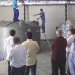 Comitiva visitou fábrica de cisternas em Penedo