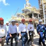 Governador Teotonio Vilela, vice Nonô, secretário Luiz Otávio Gomes e diretores da Braskem visita a nova fábrica de PVC