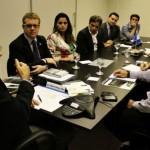 Secretário de Planejamento e Desenvolvimento Econômico Luis Otávio Gomes em reunião com os empresários da Trigre/ADS