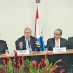 Secretário de Desenvolvimento Econômico, Luiz Otávio Gomes, governador Teotonio Vilela, presidente da CNI Robson Andrade e o presidente da Fiea José Carlos Lyra