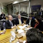 Governador Teotonio, senadores Renan Calheiros e Benedito de Lira, deputados federais e estaduais relatam o parecer técnico do IBAMA para a ministra do Meio Ambiente