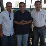 Secretários Joaquim Eugênio, José Marinho e produtor André Ramalho