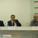 Diretores da Caixa Econômica ao lado do presidente da Fiea José Carlos Lyra anunciam investimentos da Caixa no Estado