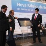 Governador Tarso Genro e Carlos Fadiga, presidente da Braskem, inaugura nova unidade de butadieno