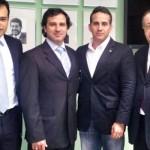 Vice presidente executivo, Eduardo Bush, diretor de Planejamento da Passaredo, Ricardo Merenda, Marcos Pradines e Roberto Pereira, CTI-NE
