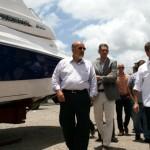Presidente da Fiea José Carlos Lyra, secretário de Ciência, Tecnologia e Inovação Eduardo Setton e empresário Edvan Júnior visitam Estaleiro Phoenix