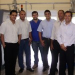 Ex-alunos já estão empregados e visitaram a equipe pedagógica do Senai como forma de agradecimento