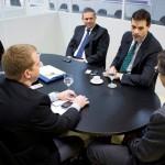 Diretoria da Vale Verde em reunião com os secretários Luiz Otávio Gomes e Keyller