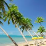 Paisagem da bela praia da Pajuçara que encanta maceioenses e turistas