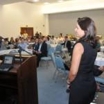Prefeito Rui Palmeira, acompanhado dos secretários Clayton Santos e Cláudia Pessoa,  no lançamento da campanha de turismo da capital alagoana para os empresários do setor