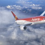 Aeronave da Avianca atravessando o espaço aéreo brasileiro