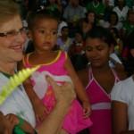 Médica Zilda Arns na festa de 25 anos da Pastoral da Criança em Alagoas.