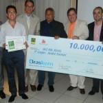Cheque de R$ 10 mil entregue ao vencedor