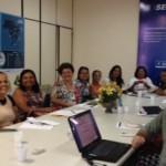 Reunião entre representantes do Senai e da Secretaria da Mulher debatem as estratégias para os participantes do Pronatec