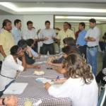 Prefeito Rui Palmeira, vice-prefeito Marcelo Palmeira, vereadores Chico Holanda e Eduardo Canuto fazem um balanço do ano de 2013 para os jornalistas