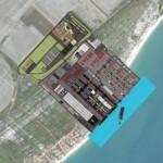 Vista aérea da área onde será instalado o Estaleiro do Nordeste