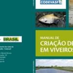 Capa do Manual de Criação de Peixes em Viveiros  da Codevasf
