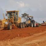Avançam as obras de pavimentação na Ecovia