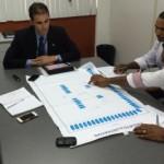 Empresário José Nunes e o sócio estiveram na secretaria apresentado o projeto da fábrica
