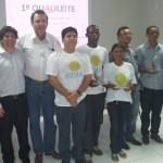 Produtores familiares vencedores do I Qualileite promovido pelo Sebrae e Governo do Estado com apoio da CPLA