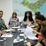 Secretária Poliana Santana em reunião com os investidores