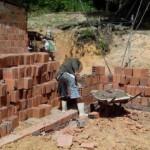 Abrigo atual do tanque de armazenamento de leite da Associação dos produtores de leite do assentamento Massangano