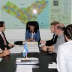 Investidores americanos estiveram reunidos na Seplande com a secretária Poliana Santana e técnicos do Governo