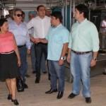Secretários Álvaro Vasconcelos, Maria Aparecida e Alexandre Ayres visitam a fábrica junto com os diretores da  CPLA