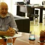 Presidente da Fiea José Carlos Lyra em reunião com a secretária de Cultura Mellina Freitas e a diretora Roseane Rodrigues