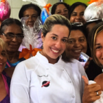 Chef Tatiana Brasil com as mulheres do Andraújo