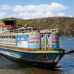 Barco Museu em reforma para navegar pelo rio São Francisco