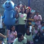 Alegria  e distração nos espetáculos apresentados as crianças e aos jovens