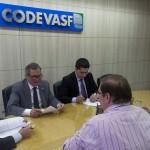 Diretores da Codevasf durante a assinatura dos contratos em Brasília