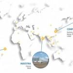Mapa com os lugares onde a ZTT está instalada no mundo, traz município de Marechal Deodoro