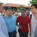 Secretário Álvaro Vasconcelos, Domício Silva e o representante do Ministério da Agricultura