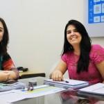Nívia Andrade e Patrícia Farias trabalhando juntas em prol de ações voltadas para o social