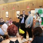 Presidente do Sindjornal, Flávio Peixoto, ao lado do diretor de Relações Institucionais da Braskem, Milton Pradines, fala sobre as novidades do Prêmio Octávio Brandão