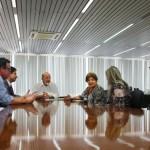 Presidente da Fiea José Carlos Lyra reunido com a secretária de Educação, Ana Dayse, chefe do CGU em Alagoas, Francisco César Berlamino e educadores