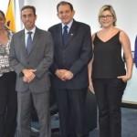 Ulisses Rocha (BB), Cláudia Pessôa (Fecomércio), Marco Sanches (superintendente BB), Wilton Malta (presidente da Fecomércio), Izabel Vasconcelos e Felippe Rocha (ambos Fecomércio)