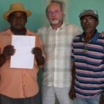 Presidente do Iteral, Jaime Silva, parabeniza a comunidade quilombola pela conquista