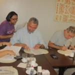 Deputados Paulão, Ronaldo Lessa e Rosinha da Adefal assinam documentos contra a Reforma da Previdência