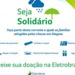Eletrobras arrecada alimentos, roupas, colchões para doar à população vítima da chuva
