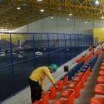Ginásio de Esporte José Quintela Cavalcanti sofrendo os retoques finais para ser devolvido à juventude