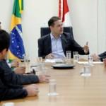 Renan Filho compartilha a política de incentivos que será levada aos produtores de cana ao presidente da Asplana, Edgar Antunes
