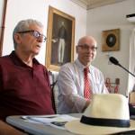 Historiador Douglas Apratto e o jornalista Ênio LIns proferindo palestras sobre a Emancipação Política de Alagoas